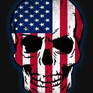 Vintage USA Flag Skull Design by EthosWear