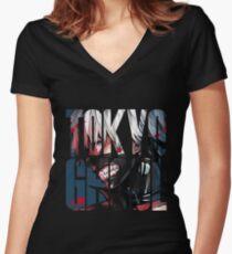 Tokyo Ghoul Logo v4 Women's Fitted V-Neck T-Shirt