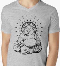 Sunburst Happy Buddha Men's V-Neck T-Shirt