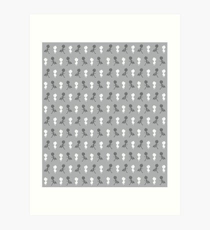 The Chase (Neutral Pattern) Art Print