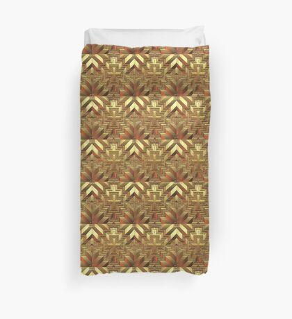 Gold Tiled Pattern Duvet Cover
