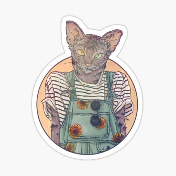 Daisy the Abyssinian Cat Sticker