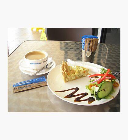 Coffee & Salad Photographic Print