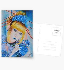 Mana ~ Blue Flowers Postcards