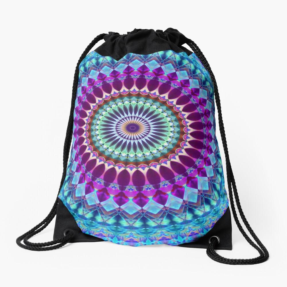Geometric Mandala Drawstring Bag