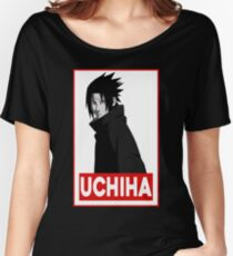Uchiha Obey Logo Women's Relaxed Fit T-Shirt