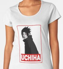 Uchiha Obey Logo Women's Premium T-Shirt