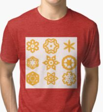 Set of Different Rope Ornaments Isolated on White Background Tri-blend T-Shirt