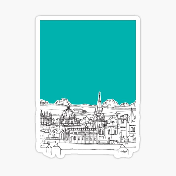 Oxford Rooftops Sticker