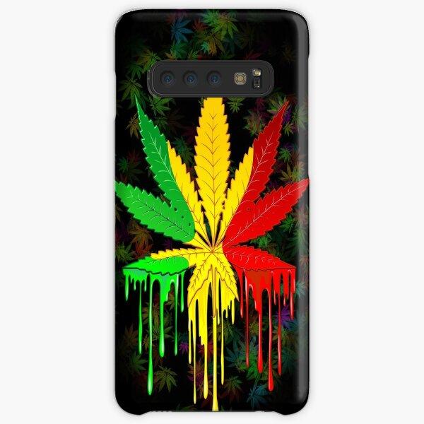 Marijuana Leaf Rasta Colors Dripping Paint Samsung Galaxy Snap Case