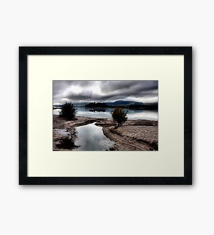 Across The Lake Framed Print