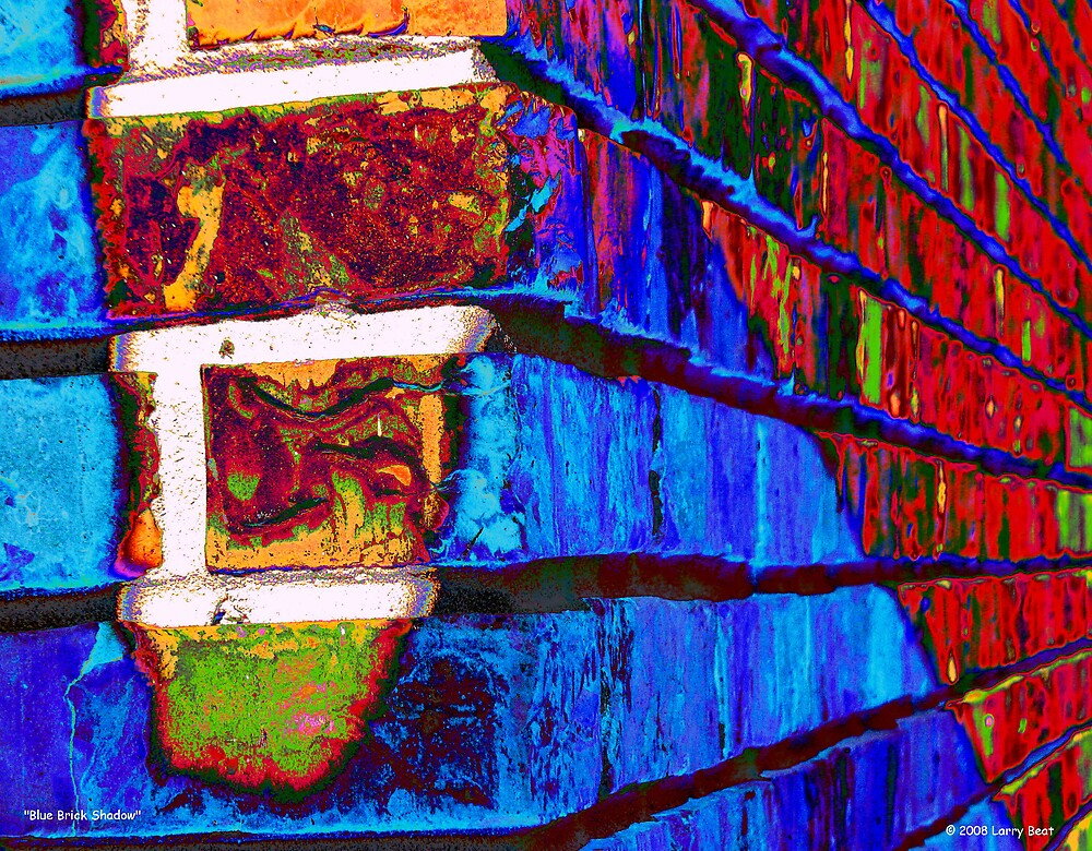 Blue Brick Shadow by Larry Beat