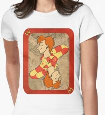 Fred and George Playing Card Women's Fitted T-Shirt