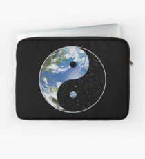 Earth and Space Yin Yang Symbol Laptop Sleeve
