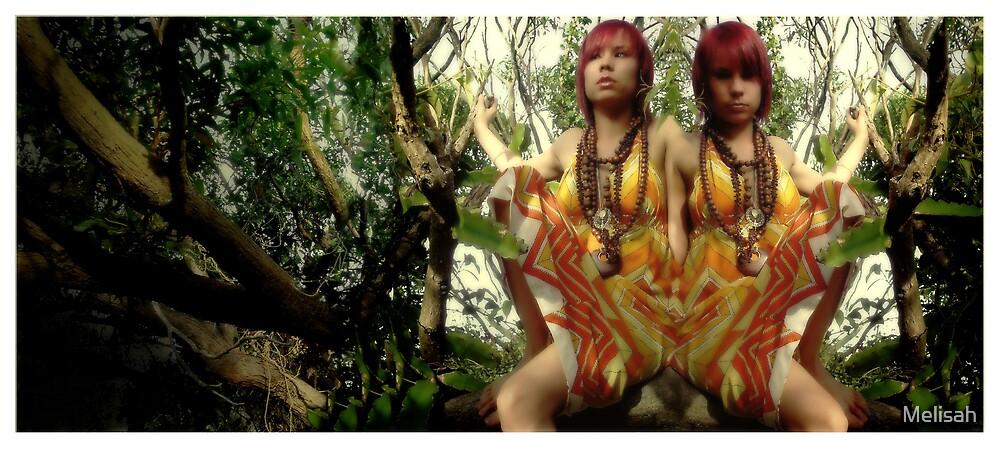 Girl in tree by Melisah