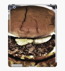 cheeseburger with bacon bits iPad Case/Skin