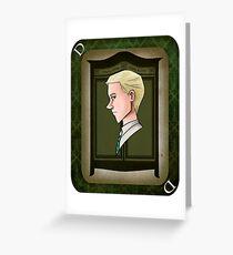 Draco Playing Card Greeting Card