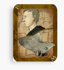 Peter Playing Card Canvas Print