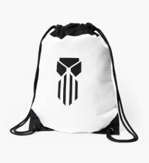 Drawstring Bag White/Black Drawstring Bag