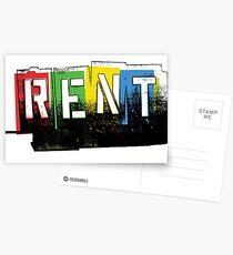 Mieten Logo Color Postkarten