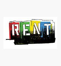 Rent Logo Color Photographic Print