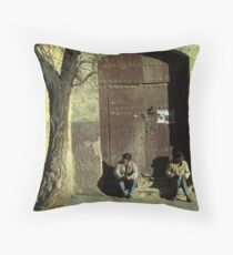 Waiting for time - Bolivia Throw Pillow