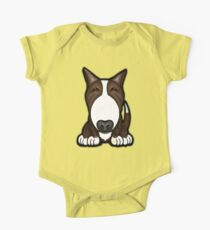 Brown Patch English Bull Terrier One Piece - Short Sleeve