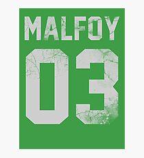 Malfoy jersey Photographic Print
