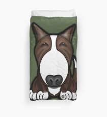 Brown Patch English Bull Terrier Duvet Cover