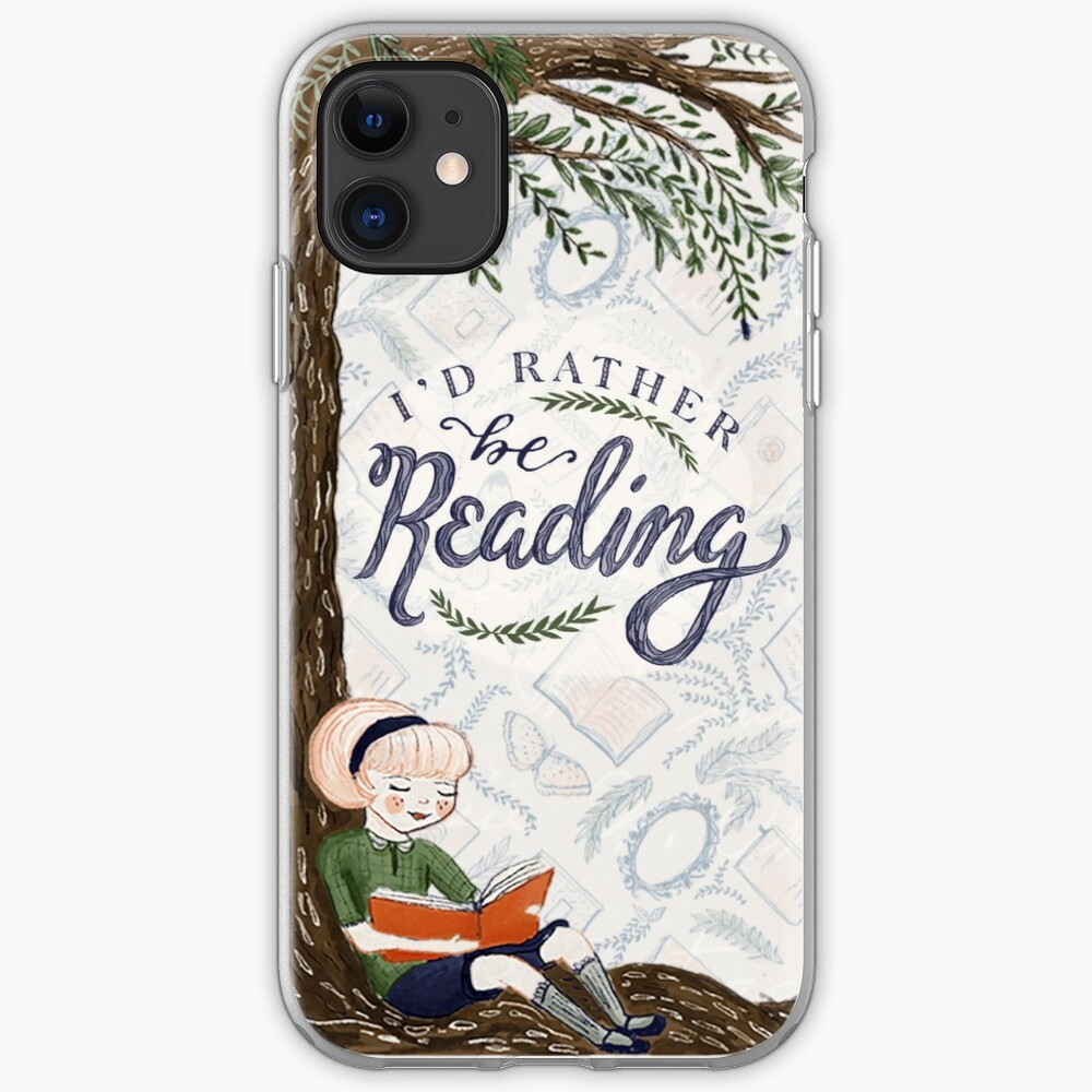 I'd Rather be Reading iPhone Case & Cover