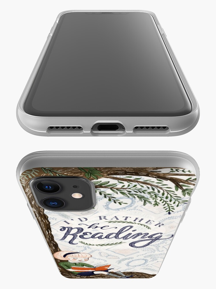 Alternate view of I'd Rather be Reading iPhone Case & Cover