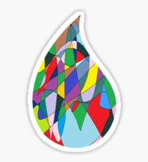 Colourful Drop Of Water Sticker
