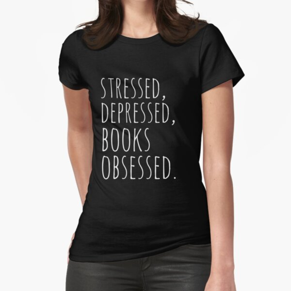 Stressed Depressed Boy Band Obessed WOMENS T-SHIRT Teenage Funny birthday gift
