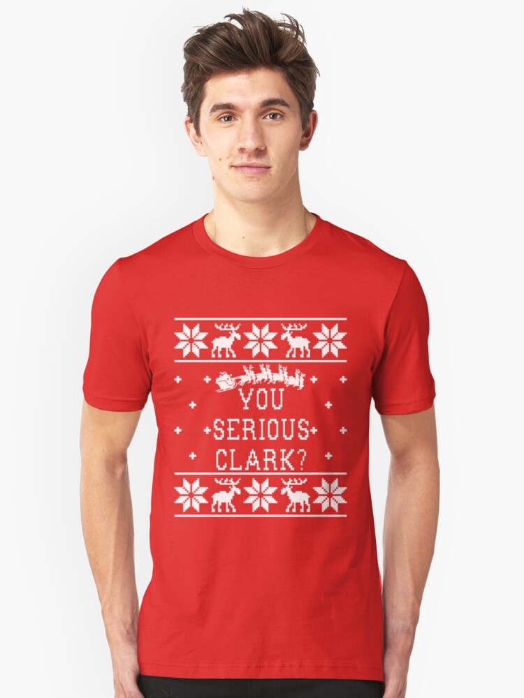 Ugly Christmas Sweater Christmas Vacation Unisex T Shirt Front