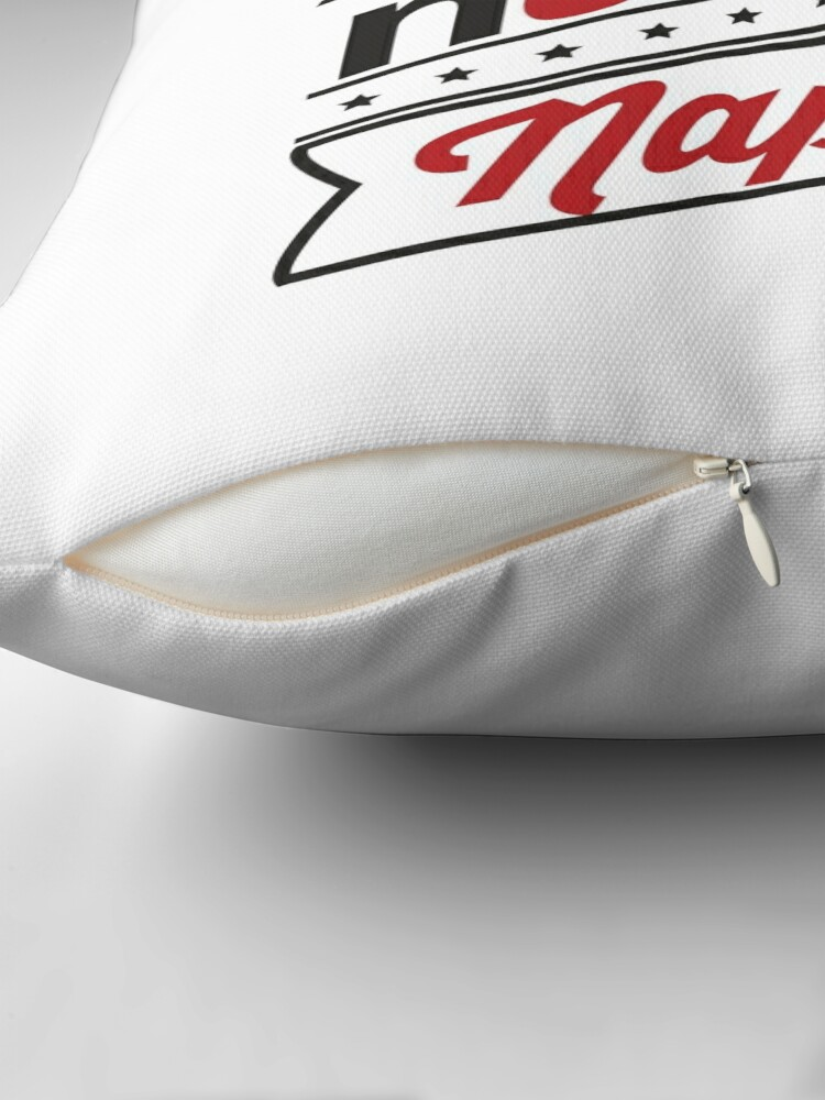 Alternate view of NETFLIX, NUTELLA & NAPS. Throw Pillow