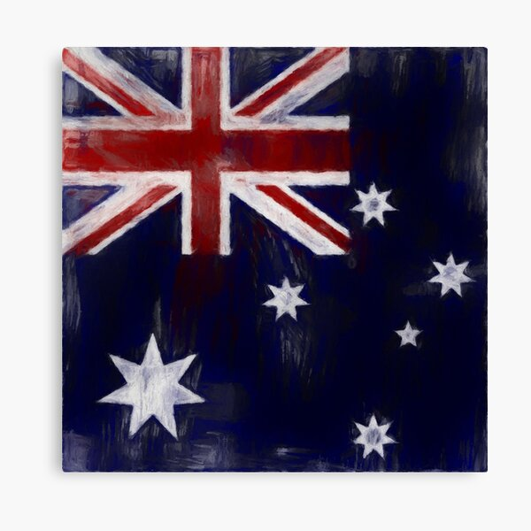 Australia Flag No. 1, Series 2 Canvas Print