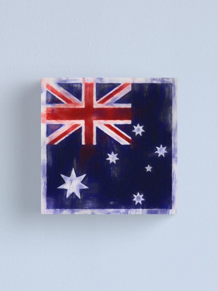 Alternate view of Australia Flag Reworked No. 2, Series 1 Canvas Print