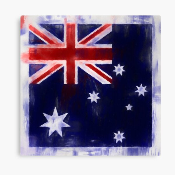 Australia Flag Reworked No. 2, Series 1 Canvas Print
