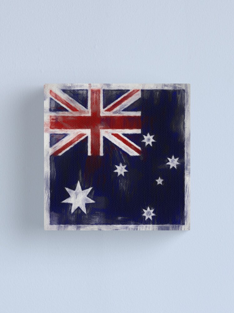 Alternate view of Australia Flag No. 2, Series 2 Canvas Print