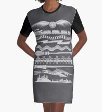 Wizard Whimsy Graphic T-Shirt Dress