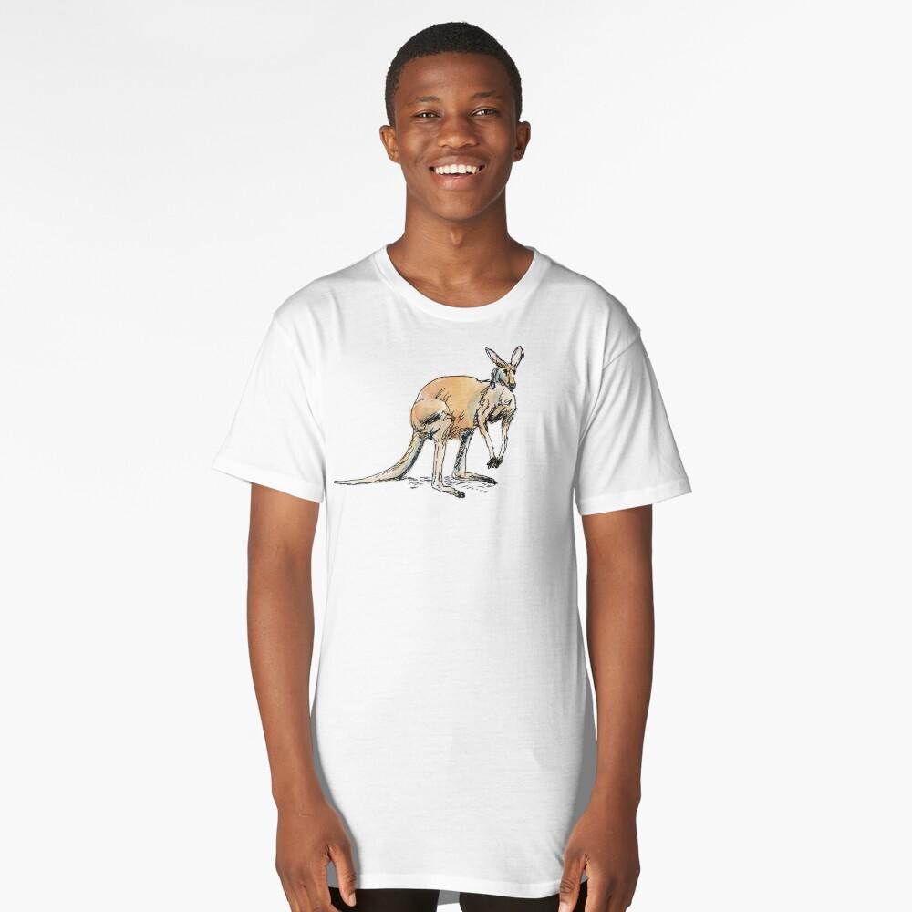 Kangaroo-in-waiting Long T-Shirt Front