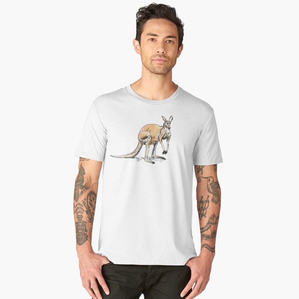 Kangaroo-in-waiting Men's Premium T-Shirt Front