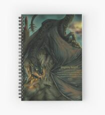 Hungarian horntail - With text version Spiral Notebook
