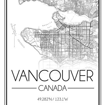 Vancouver, BC City Map- Black by emmakoehle
