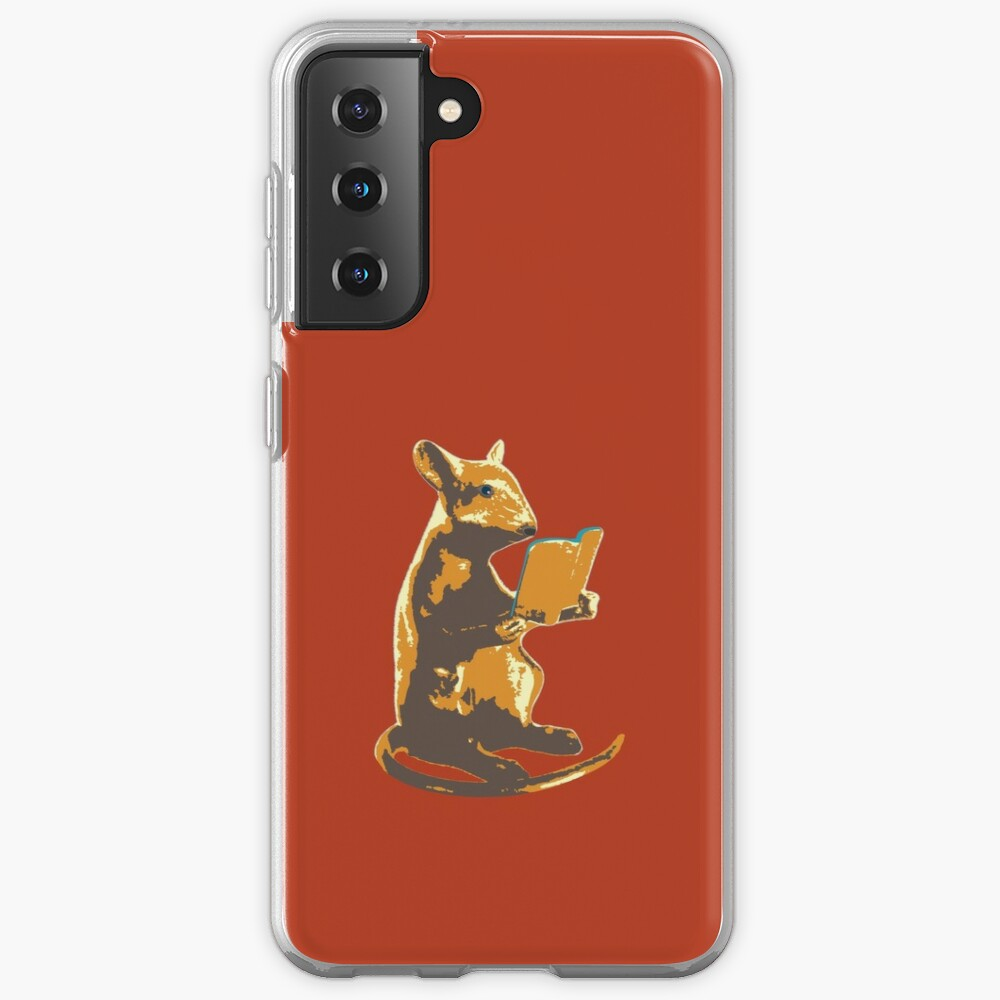 Book Mouse - gold Case & Skin for Samsung Galaxy