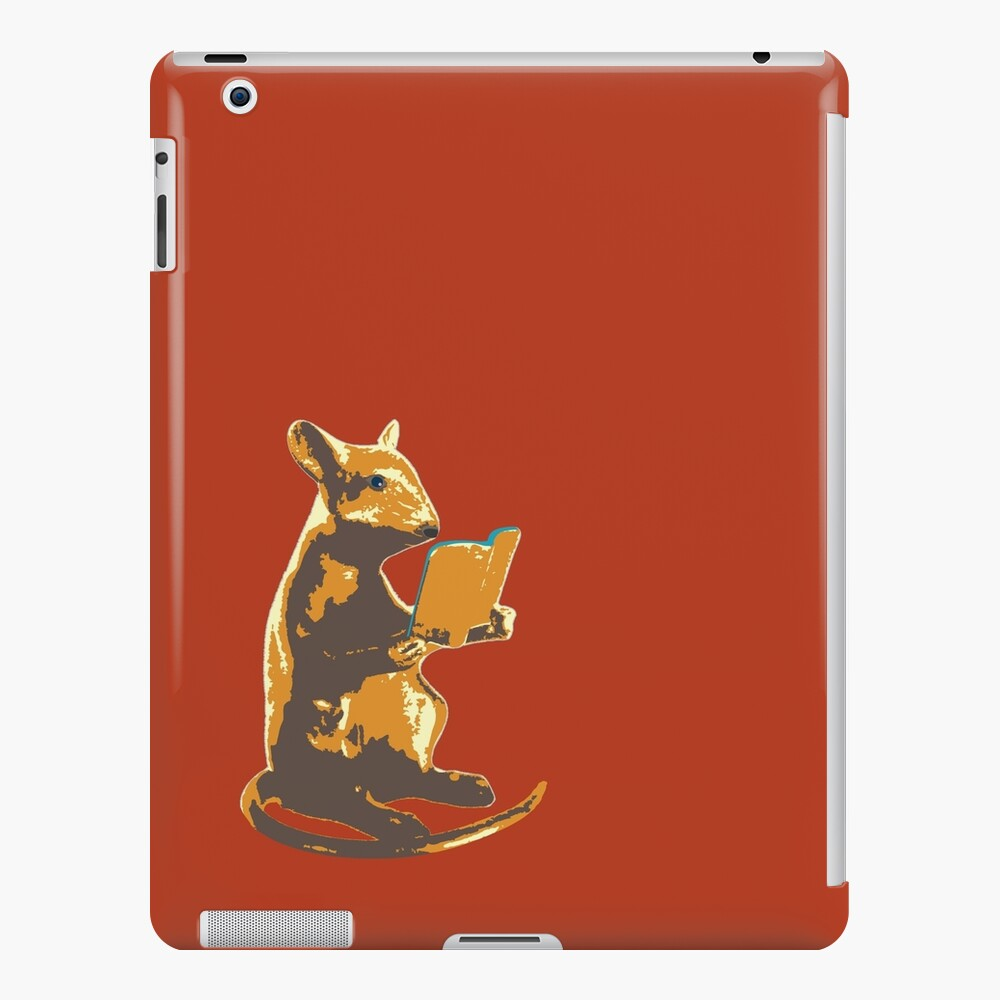 Book Mouse - gold iPad Case & Skin