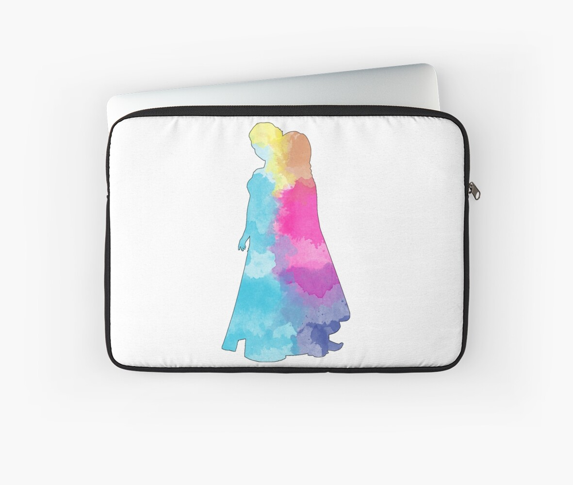 Two princesses watercolor silhouette by Becca Cook