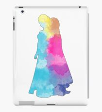 Two princesses watercolor silhouette iPad Case/Skin