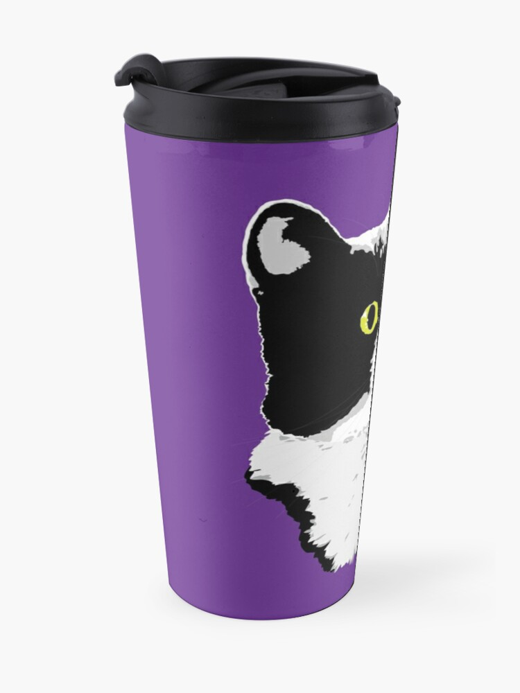 Alternate view of Regal Tuxedo Kitty Travel Mug
