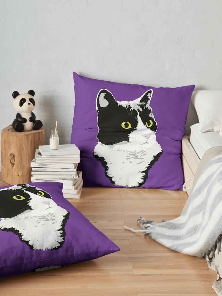 Alternate view of Regal Tuxedo Kitty Floor Pillow